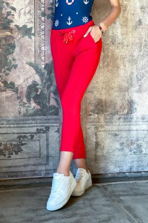 Linda nadrág - fáradt piros