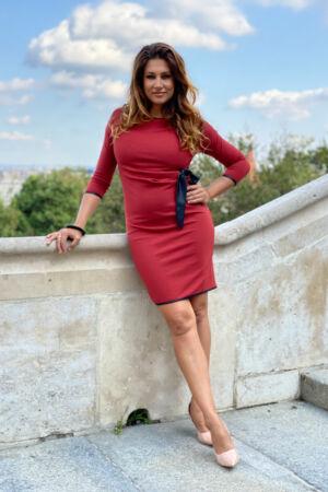 Monica ruha - bordó