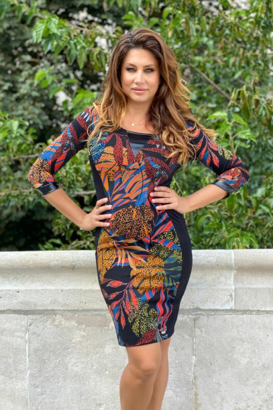 Rachel ruha - színes mintás