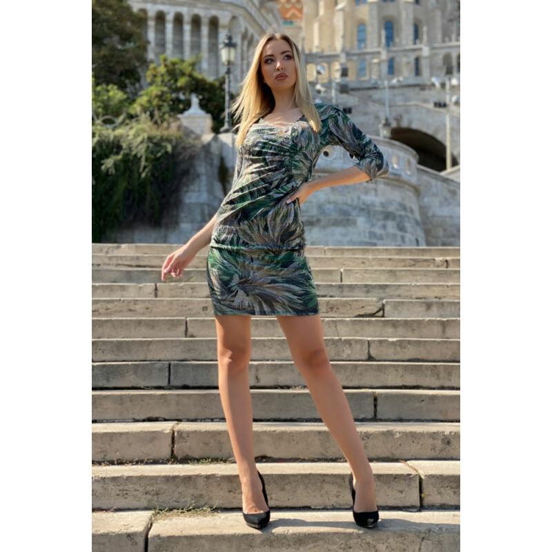 Enikő ruha - zöld alaptónus