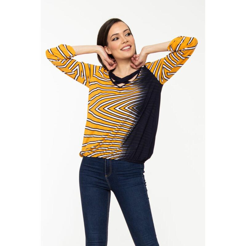 Phoebe tunika - sárga csíkos