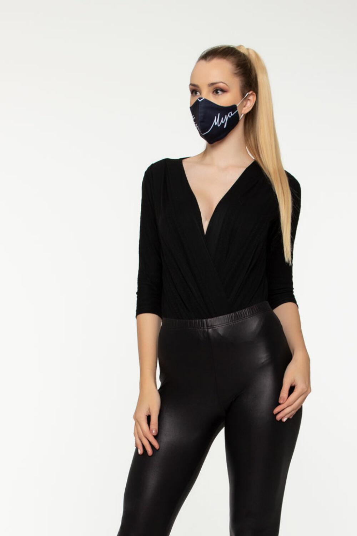 Mya logós maszk - sötétkék