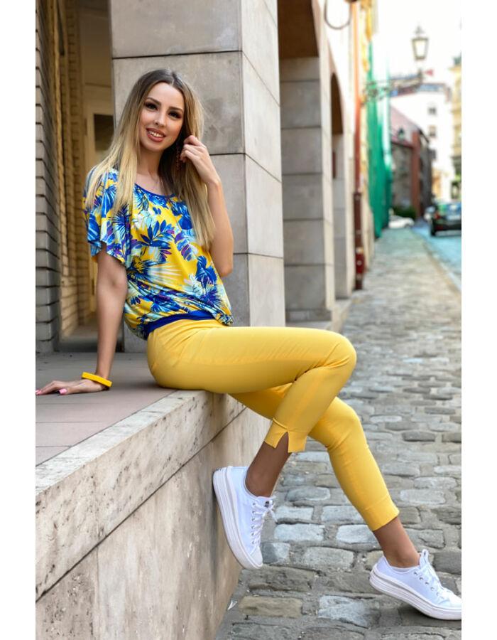 Mirella tunika - sárga/kék